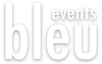 bleu Events Logo - Pressed COMO