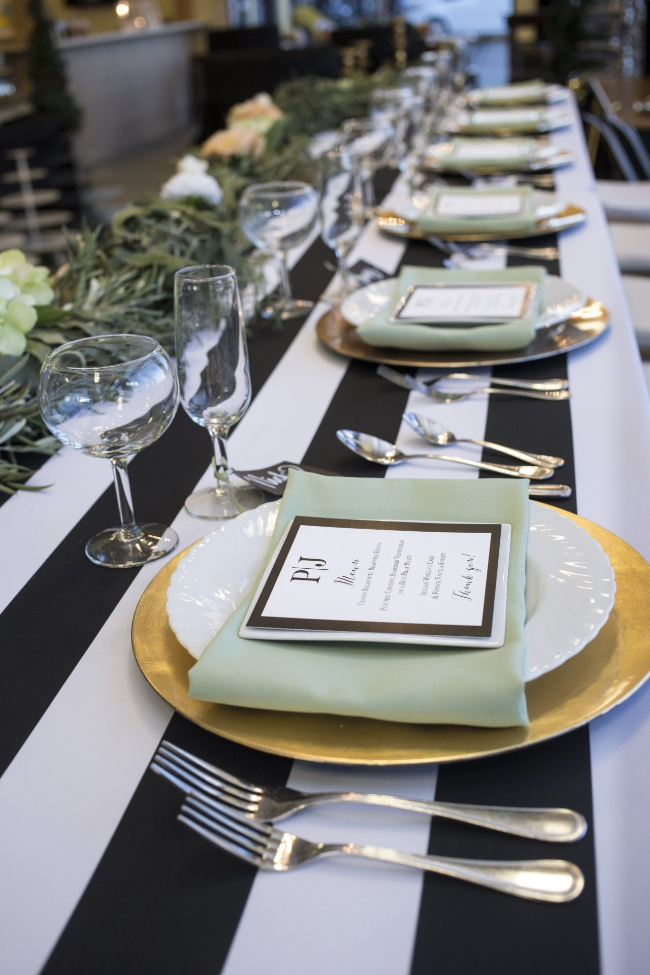 Bleu events planning table setting