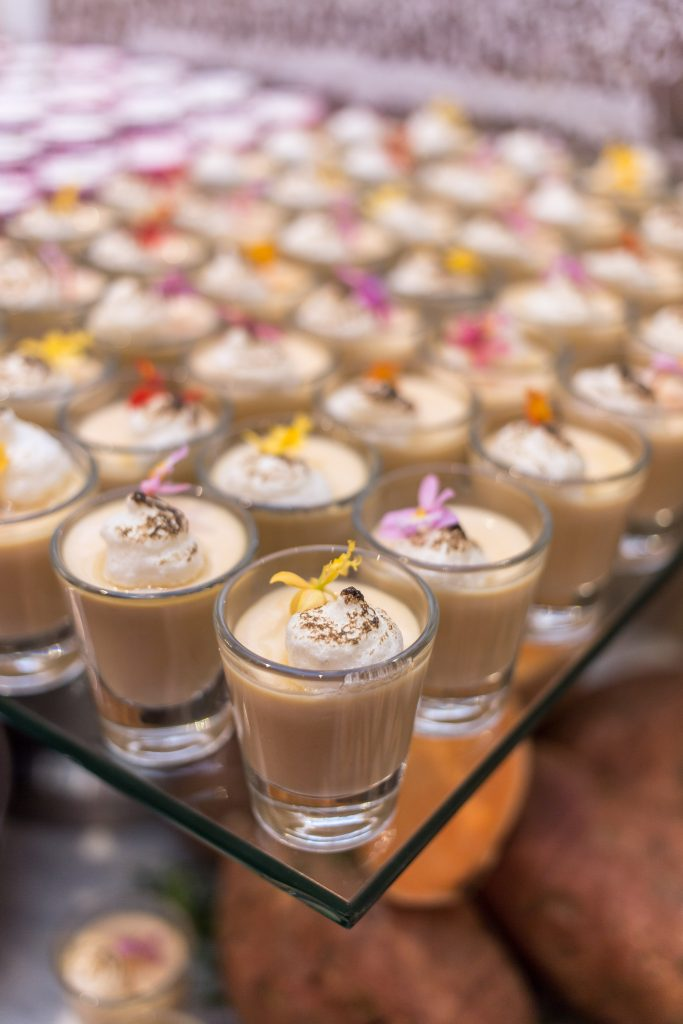 Closeup of unique drinks provided by the catering company