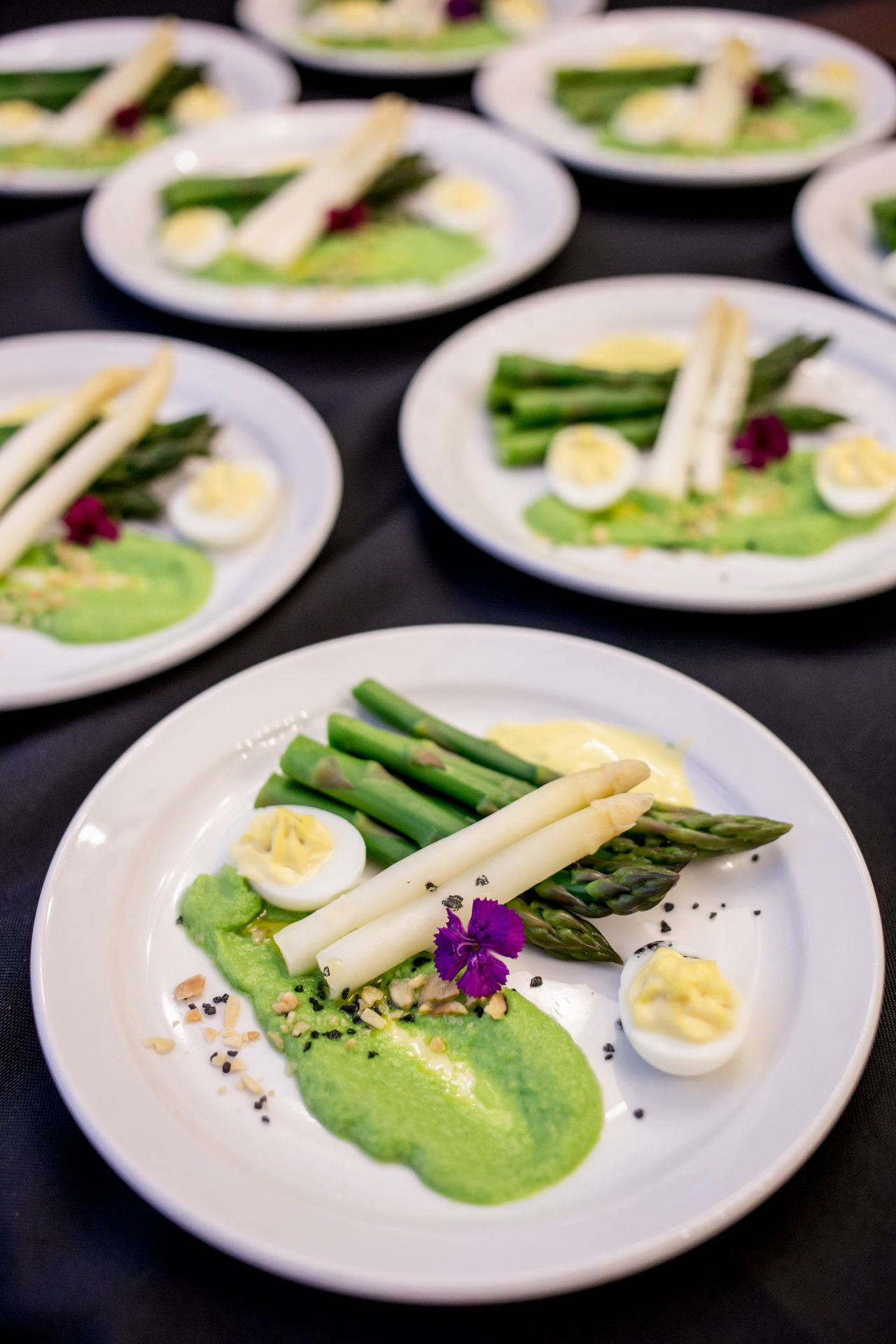 White Asparagus catering appetizers