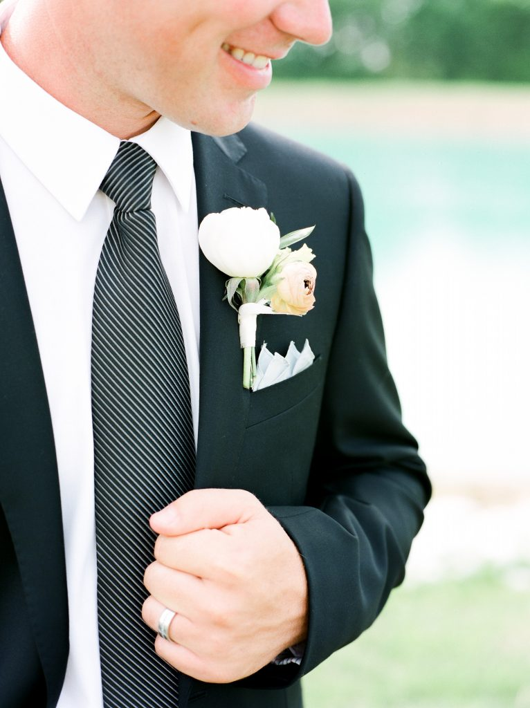 close up of groom smiling