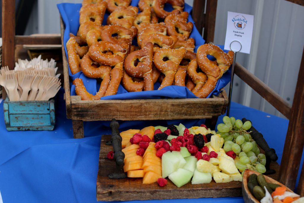 Pretzel and fruit display