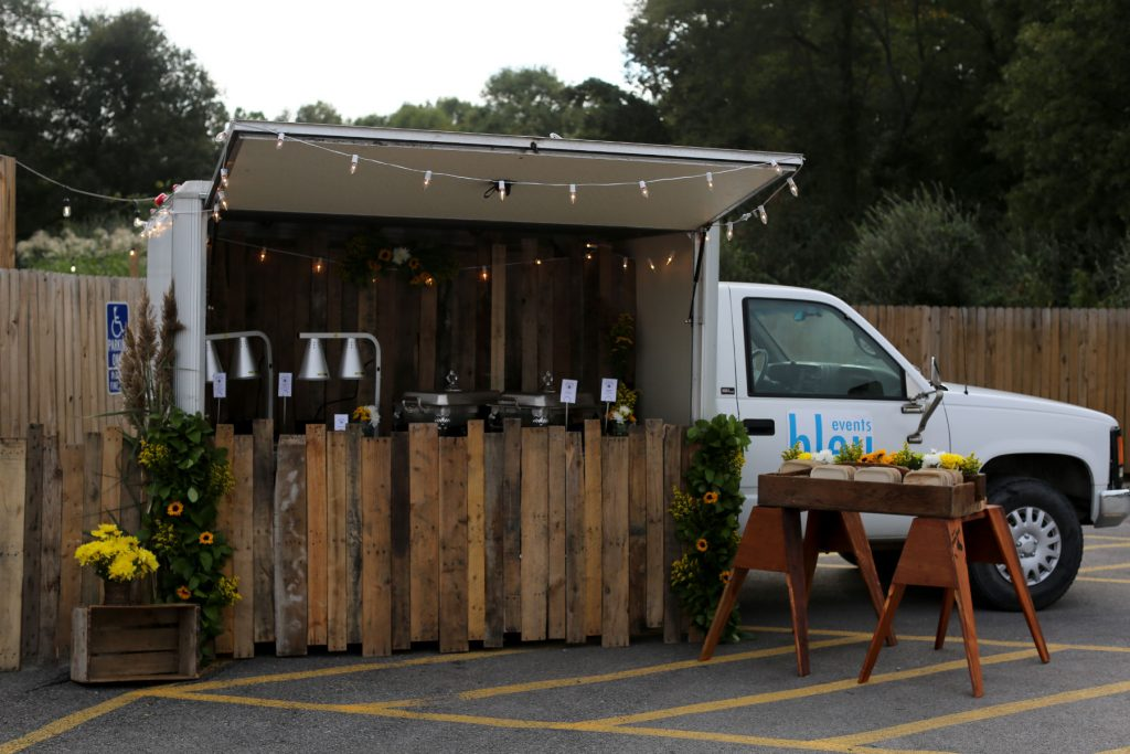 Blue Events catering food truck